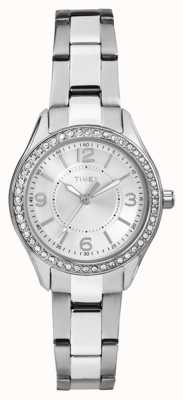 Timex Womans Miami mini argento quadrante argentato cinturino in acciaio inox TW2P79800