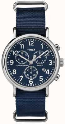 Timex weekender Unisex cronografo blu navy TW2P71300