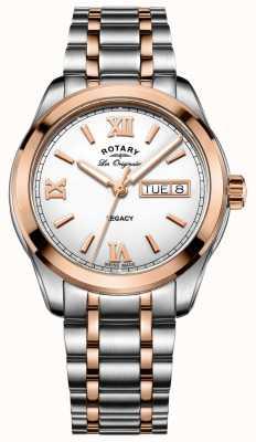 Rotary Mens Watch eredità di due toni GB90175/06