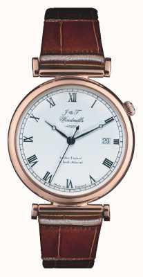 J&T Windmills Mens Bartolomeo meccanica rosa orologio d'oro WGS50001/01