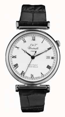 J&T Windmills Mens Bartolomeo argento orologio meccanico WGS10000/08