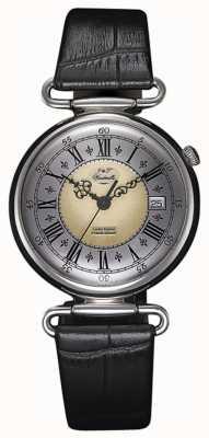 J&T Windmills Orologio da uomo in argento sterling meccanico throgmorton WGS10002/50