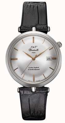 J&T Windmills Mens Threadneedle argento orologio meccanico oro rosa WGS10001/06