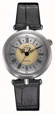 J&T Windmills Womans Throgmorton argento orologio meccanico WLS10002/50