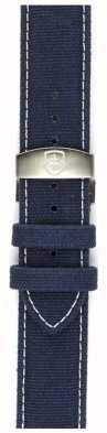 Elliot Brown solo 22 millimetri Mens lavato blu canvas cinghia deployante STR-C01