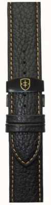 Elliot Brown Cinturino in maglia nera di 22 millimetri in pelle di ciottoli nero STR-L11
