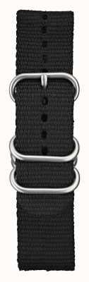 Elliot Brown Mens 22mm nero nylon balistico hardware spazzolato STR-N03