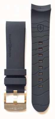 Elliot Brown Cinturino in alluminio con linguetta in gomma nera 22 millimetri STR-R01