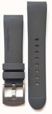 Elliot Brown Fibbia da uomo in acciaio con gomma grigia 22mm STR-R02