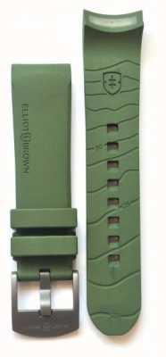 Elliot Brown Cinturino in alluminio della linguetta di gomma verde 22 millimetri STR-R04