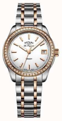 Rotary Womens les originales eredità acciaio inossidabile di due toni LB90175/01