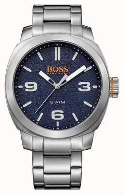 Hugo Boss Orange Mens città del capo bracciale in acciaio quadrante blu 1513419