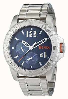 Hugo Boss Orange Mens Reykjavik bracciale in acciaio quadrante blu 1513424