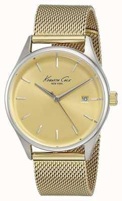 Kenneth Cole Womens tono oro quadrante in oro maglia di acciaio inossidabile KC10029401