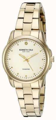 Kenneth Cole Quadrante argento in acciaio inox a oro KC10026480
