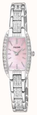 Pulsar Delle donne bracciale in acciaio rosa quadrante in madreperla PEGG75X1