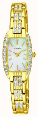 Pulsar Womens madre in acciaio inox tono oro del quadrante in madreperla PEGG76X1