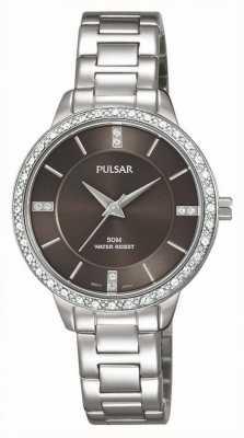 Pulsar Acciaio inossidabile delle donne quadrante braccialetto marrone PH8215X1