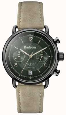 Barbour cinturino in pelle Mens Salisbury kaki linea verde BB053GRKH