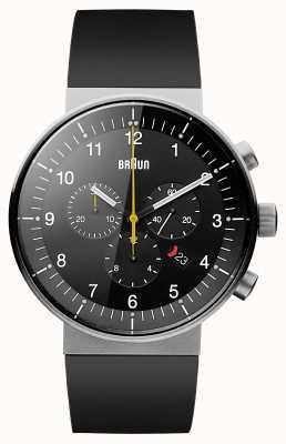 Braun Manopola in cinturino nero in cronografo di prestigio maschile nero BN0095BKSLBKG
