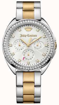 Juicy Couture Delle donne capri due segnale di linea libera braccialetto d'argento in acciaio inox 1901481