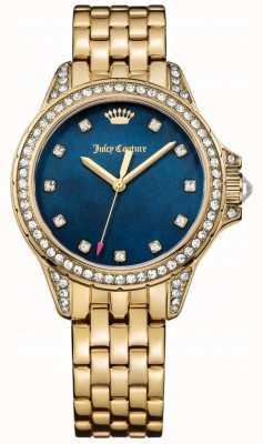 Juicy Couture Acciaio inossidabile delle donne oro tono Malibu madre blu di perla 1901492