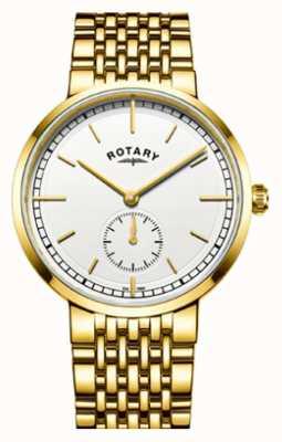Rotary Quadrante bianco in acciaio inossidabile con finitura oro rosa canterbury GB05062/02
