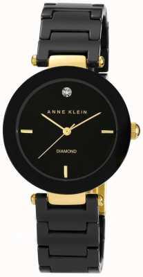 Anne Klein Quadrante nero cinturino in ceramica nera AK/N1018BKBK