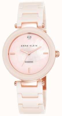 Anne Klein Cinturino in ceramica rosa donna rosa madreperla quadrante AK/N1018PMLP