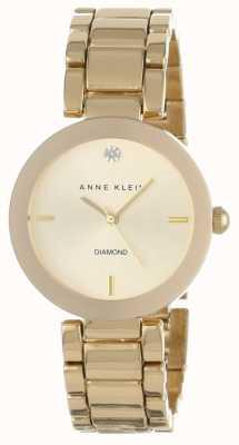 Anne Klein Quadrante oro braccialetto in oro AK/N1362CHGB