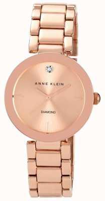 Anne Klein Quadrante oro rosa braccialetto di oro rosa delle donne AK/N1362RGRG