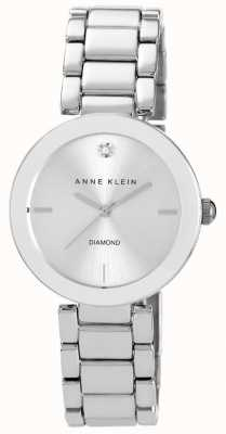 Anne Klein Quadrante argento braccialetto in acciaio inox AK/N1363SVSV