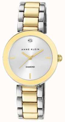 Anne Klein Quadrante argento braccialetto a due toni AK/N1363SVTT