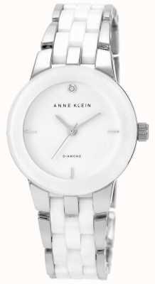 Anne Klein Quadrante bianco cinturino in ceramica bianca AK/N1611WTSV