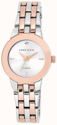Anne Klein Quadrante argento braccialetto a due toni AK/N1931SVRT