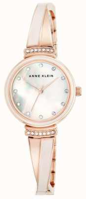 Anne Klein Donna braccialetto di tono di oro rosa della madre del quadrante della perla AK/N2216BLRG