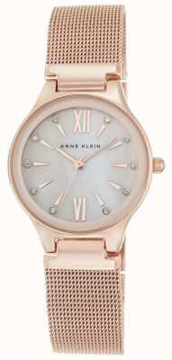 Anne Klein La maglia della maglia di oro di rosa delle donne è la madre del quadrante della perla AK/N2418BMRG