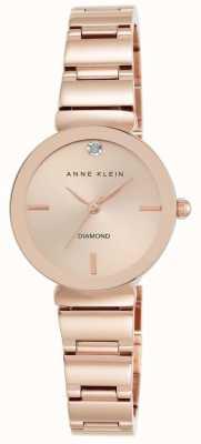 Anne Klein Quadrante oro rosa braccialetto di oro rosa delle donne AK/N2434RGRG