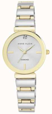 Anne Klein Quadrante d'argento due braccialetti di tono AK/N2435SVTT