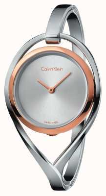 Calvin Klein Cassa di oro rosa del braccialetto medio dell'acciaio inossidabile delle donne K6L2MB16