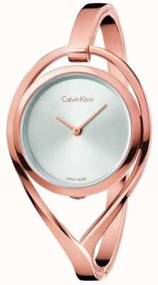 Calvin Klein Diamante d'argento del braccialetto del tono di oro di rosa della luce delle donne K6L2S616