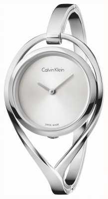 Calvin Klein Quadrante argentato in bracciale in acciaio inox K6L2S116