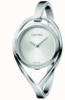 Calvin Klein Quadrante argento medio medio leggero in acciaio inox K6L2M116