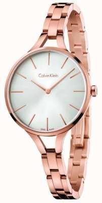 Calvin Klein Quadrante argento oro rosa braccialetto in oro K7E23646