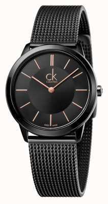 Calvin Klein Cinghia di maglia nera minima donna K3M22421