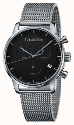 Calvin Klein Quadrante nero dell'acciaio inossidabile cronografo della città K2G27121