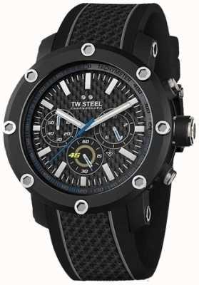 TW Steel Mens cinturino in gomma nera quadrante del cronografo nero TW937