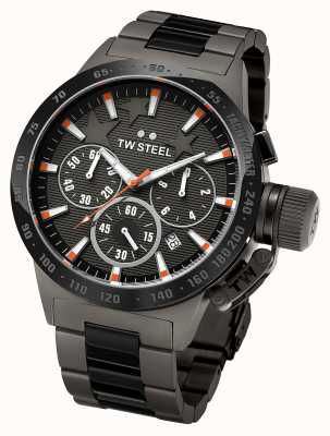 TW Steel mensa Mens titanio scuro cronografo nero TW313
