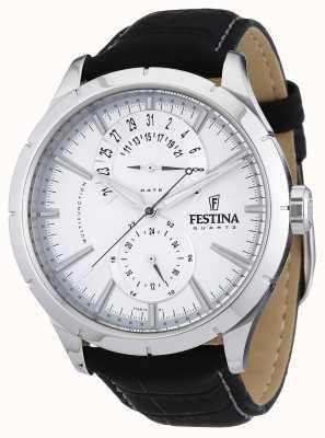 Festina Cinturino in pelle nera in pelle bianca F16573/1