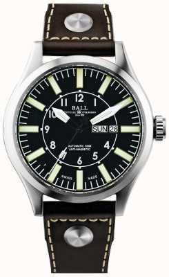 Ball Watch Company Cuoio automatico aviatore aziendale master II NM1080C-L3-BK